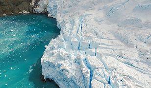 Wyciek metanu z morskiego dna na Antarktydzie.