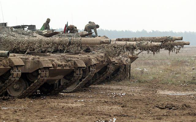 Niemieckie czołgi w Orzyszu