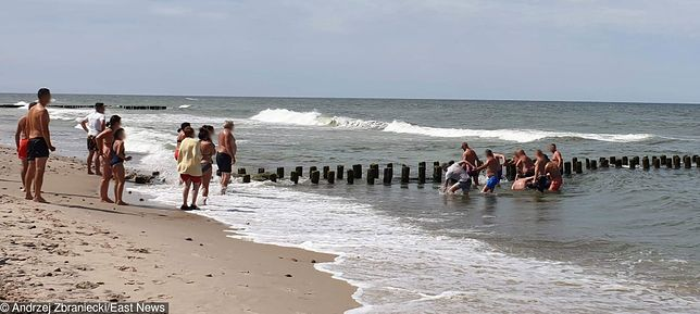Akcja ratunkowa plażowiczów zapobiegła kolejnej tragedii