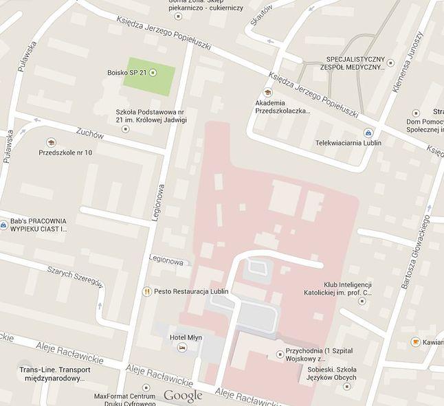 Organizacja ruchu na mapie Google
