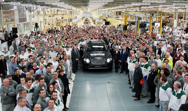 Pierwszy Bentley Bentayga zjechał z taśmy