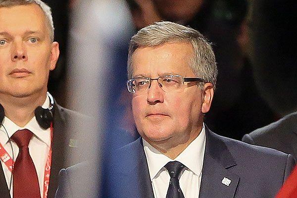Prezydent Bronisław Komorowski podczas szczytu NATO