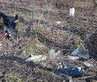 Wiosna odsłania śmieci w Tychach