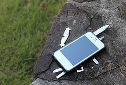 iPhone z narzędziami