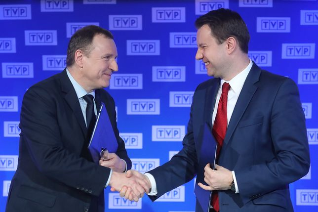 Prezes zarządu TVP Jacek Kurski i prezydent Opola podpisali umowę ws. Festiwalu w Opolu