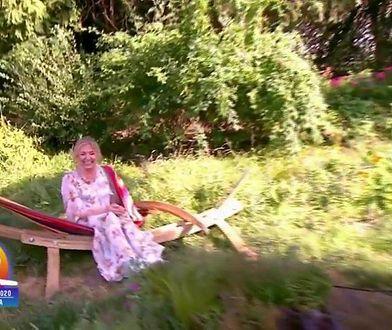 """Marzena Rogalska i """"niefortunny relaks"""" w hamaku"""