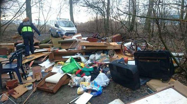 Warszawa. Lasy toną w śmieciach