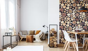 Piękne plastry drewna są jednym z popularnych dodatków do wnętrz