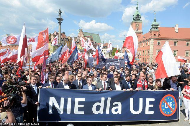Manifestacja zwolenników Konfederacji