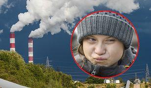 Greta Thunberg w Polsce. Ekipa filmowa przy Elektrowni Bełchatów