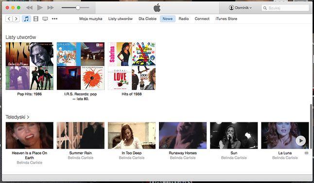 Choć oferta teledysków jest nieco uboższa niż iTunes Store, nie trudno znaleźć coś dla siebie.
