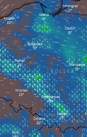 Gdzie jest burza? Wieczorem strefa burzowa nie obejmie tylko krańców południowo-zachodnich