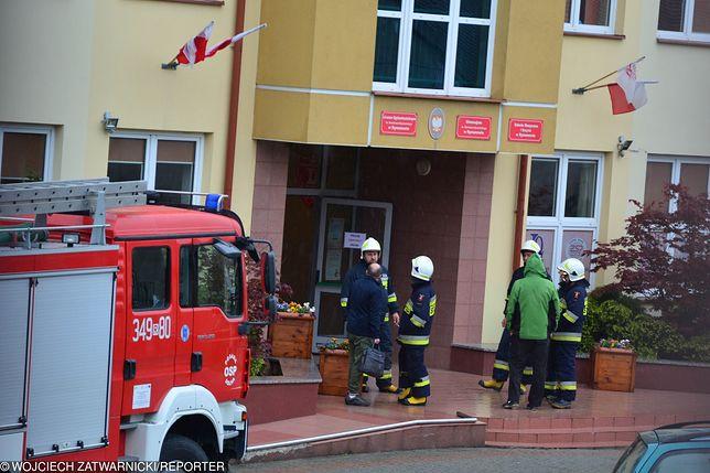 Alarm bombowy w Liceum Ogólnokształcącym w Rymanowie