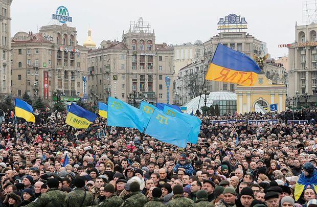 Obchody rocznicy rewolucji na Majdanie