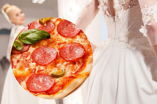 Panna młoda chciała wyglądać jak pizza. Jej suknia ślubna zszokowała internautów