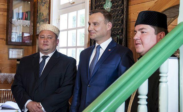 Wizyta Prezydenta RP Andrzeja Dudy w meczecie we wsi Bohoniki (woj podlaskie)