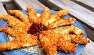 Parmezanowe frytki z kurczaka. Smaczna przekąska