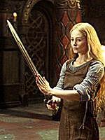 Miranda Otto w roli Eowiny z Rohanu we 'Władcy Pierścieni'