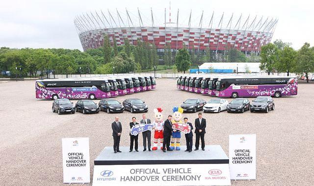 Koreańskie auta na Euro 2012