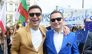 Paweł Rabiej z partnerem.