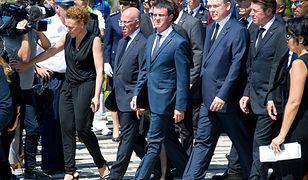 Premier Francji Manuel Valls na czele rządowej delegacji na uroczystościach w Nicei.