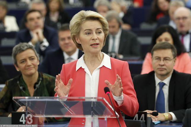 Strasburg. Przewodnicząca Komisji Europejskiej Ursula von der Leyen