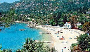 Jedna z plaż przy hotelu Paleo Art Nouveau na wyspie Korfu w Grecji