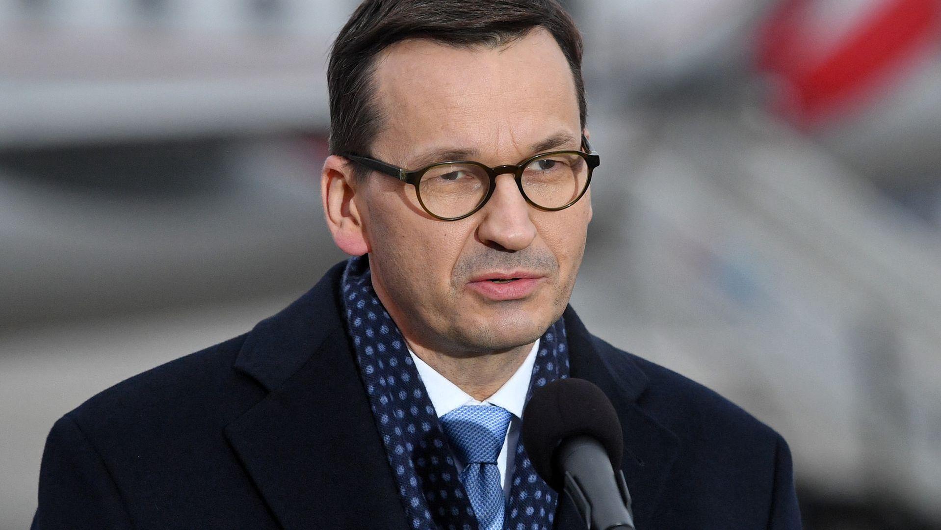 Premier Morawiecki po powrocie ze szczytu UE / fot. Radek Pietruszka