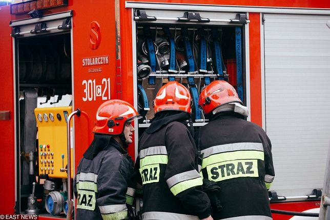 W wyniku wybuchu doszło do pożaru
