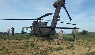 Amerykański śmigłowiec awaryjnie lądował na polu