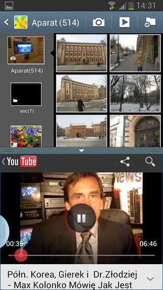 Multi Window pionowo (Galeria + YouTube)