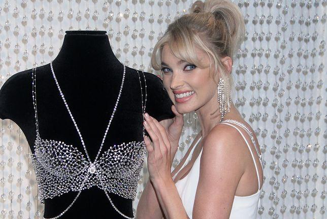 Elsa Hosk prezentuje biustonosz z diamentami Svarowskiego