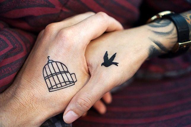 Znaczenie tatuażu dla par można odczytać dopiero, kiedy zobaczy się obydwa malunki