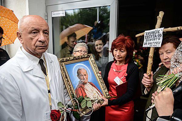 Wiec poparcia dla prof. Bogdana Chazana