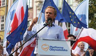 """Mocne słowa Tuska w Gdańsku. """"Panie Kaczyński, wyjdź z tej jaskini"""""""