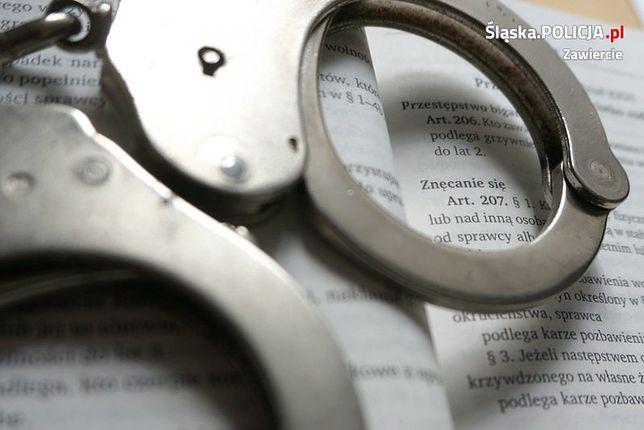 Zawiercie. 51-latek został aresztowany za znęcanie się nad rodziną.