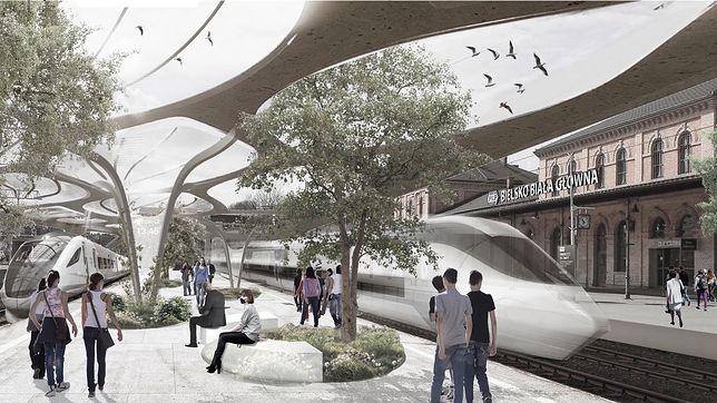 Tak może wyglądać dworzec kolejowy w Bielsku-Białej.