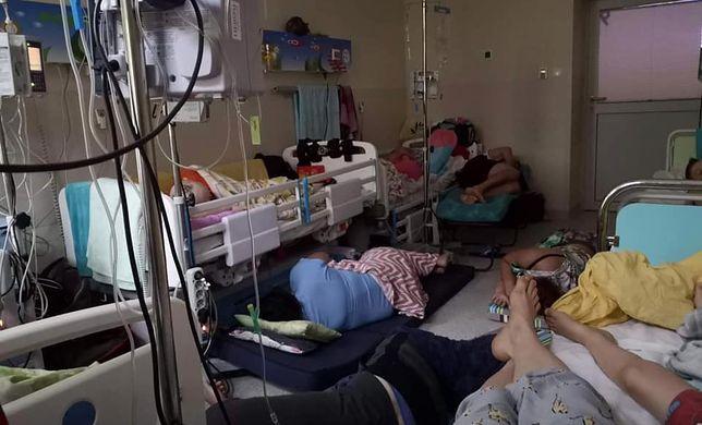 Sala na oddziale onkologii w Instytucie Matki i Dziecka