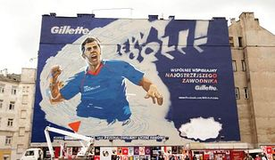 Wielki mural z Robertem Lewandowskim