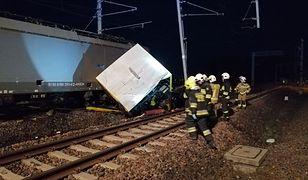Szymankowo. Policja wyjaśnia okoliczności wypadku pociągu.
