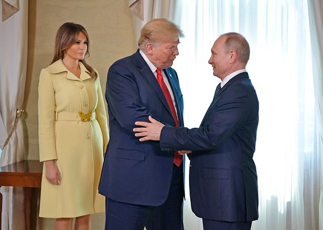 Trump i Putin w Helsinkach