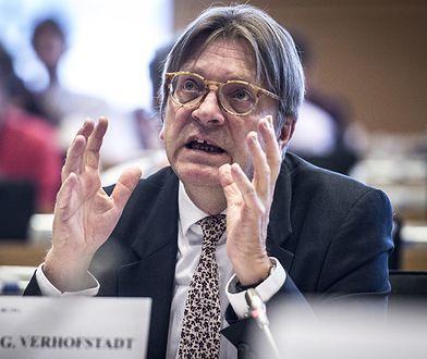 Guy Verhofstadt jest przewodniczącym grupy politycznej liberałów w Parlamencie Europejskim
