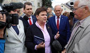 Węgrów. Beata Szydło na początku kampanii