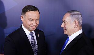 Prezydent RP Andrzej Duda i premier Izraela Binjamin Netanjahu