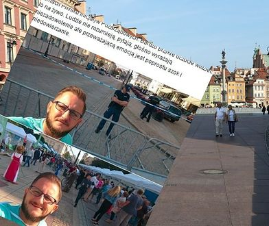 Dwa światy na Krakowskim Przedmieściu. Te zdjęcia pokazują, jak miesięcznice dzielą Warszawę