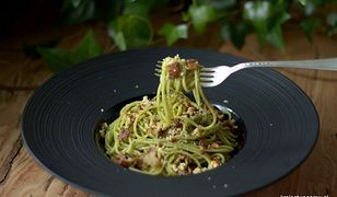 spaghetti ze szczypiorkiem