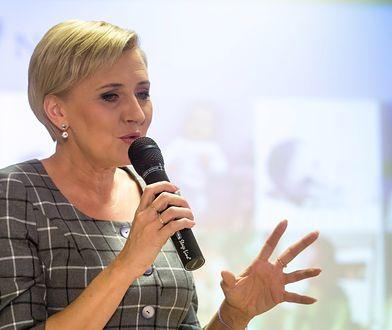 Agata Duda łatwo nawiązuje kontakt z młodzieżą
