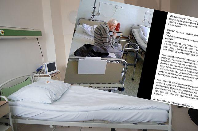 Historię starszego pana opisała jedna z pielęgniarek