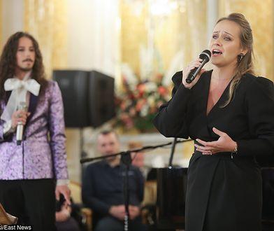 Michał Szpak i Marlena Szpak podczas gali finałowej konkursu Lodołamacze 2019