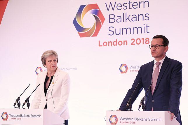 Theresa May i Mateusz Morawiecki mieli rozmawiać o brexitcie